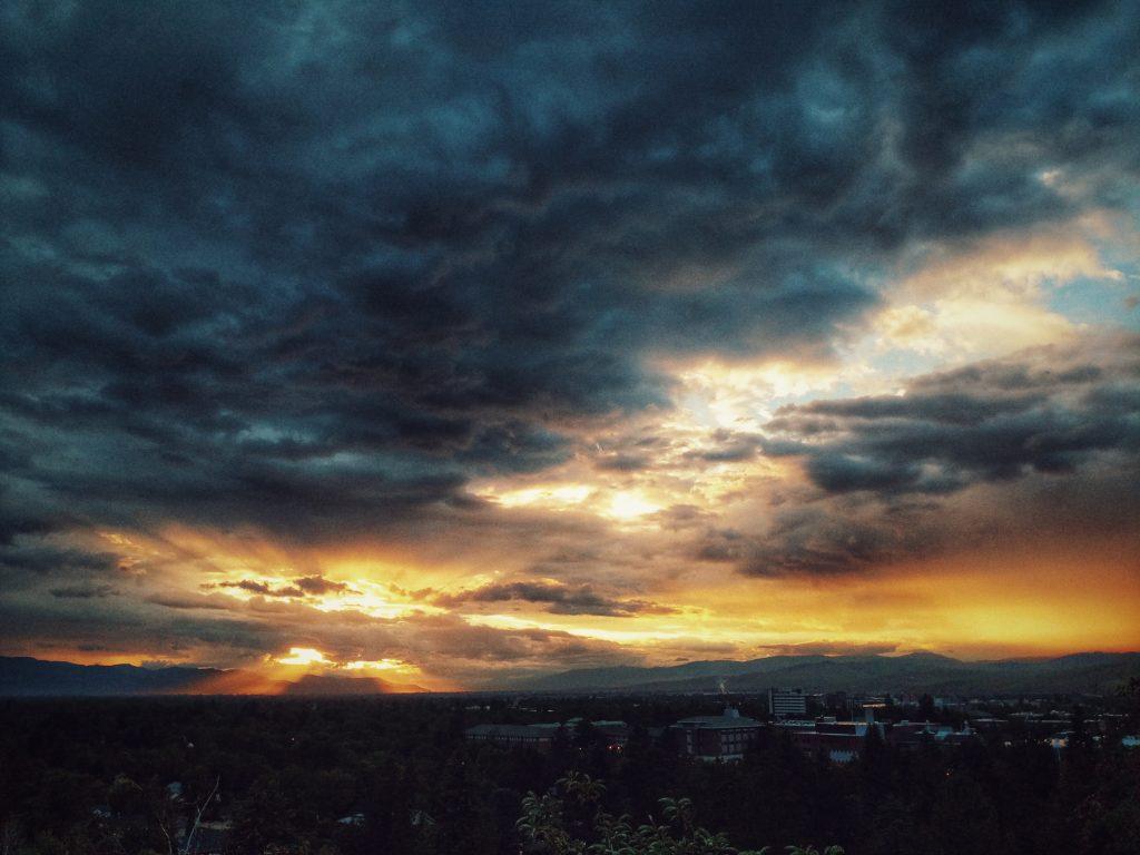 sunset photo of Missoula, Montana